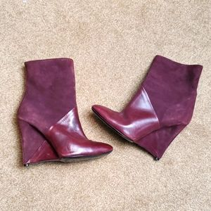 Neil Barrett Leather Suede Heeled Boots